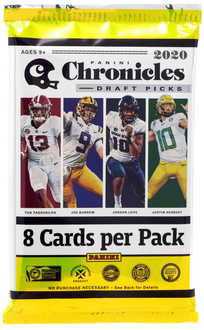 NFL Panini 2020 Chronicles Football Trading Card HOBBY Pack [8 Cards]