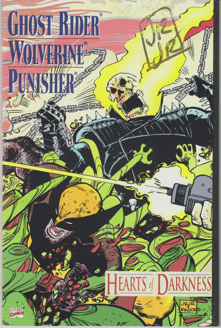 Marvel Comics Ghost Rider Wolverine Punisher Hearts of Darkness #1 Comic Book [Signed by John Romita Jr.]