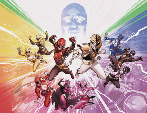Boom Studios Mighty Morphin Power Rangers #50 Necessary Evil Comic Book [Foil Wraparound Variant Cover]