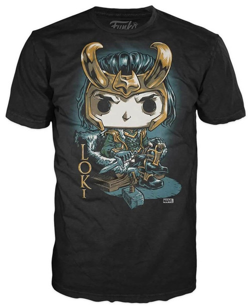 Funko Marvel Loki Exclusive T-Shirt [Throne, Large]