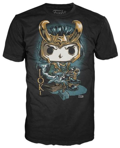 Funko Marvel Loki Exclusive T-Shirt [Throne, X-Large]