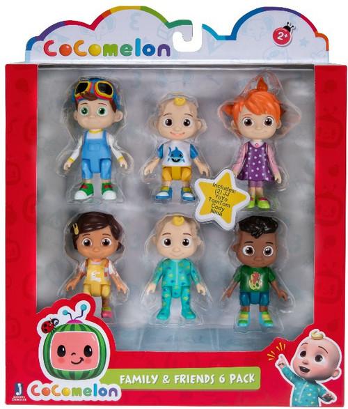 Cocomelon Family & Friends Mini Figure 6-Pack