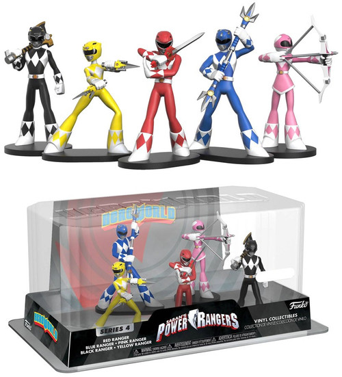 Funko Power Rangers Hero World Series 4 Red Ranger, Blue Ranger, Pink Ranger, Black Ranger & Yellow Ranger Exclusive 4-Inch Vinyl Figure 5-Pack [Damaged Package]