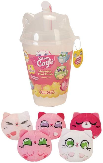 Kitten Catfe Meowable Boba 5-Piece Mini Plush Cup