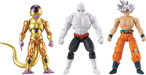 Dragon Ball Super Super Evolve Ultra Instinct Goku, Godlen Frieza, Jiren Full Power Final Form Action Figure Set of 3