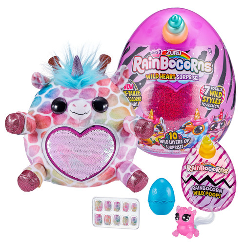 Series 3 Wild Heart Rainbocorns Surprise Mystery Egg Plush [RANDOM Color Plush, Sequins & Animal!]