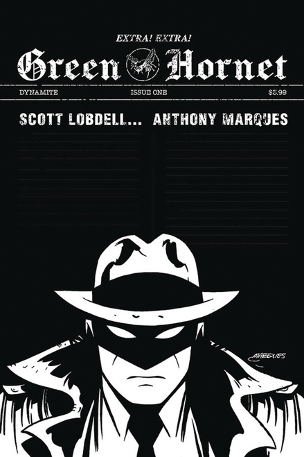 Dynamite Entertainment Green Hornet #1 Comic Book [Marques Black & White Incentive Variant]