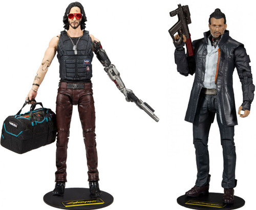 McFarlane Toys Cyberpunk 2077 Johnny Silverhand & Takemura Set of 2 Action Figures