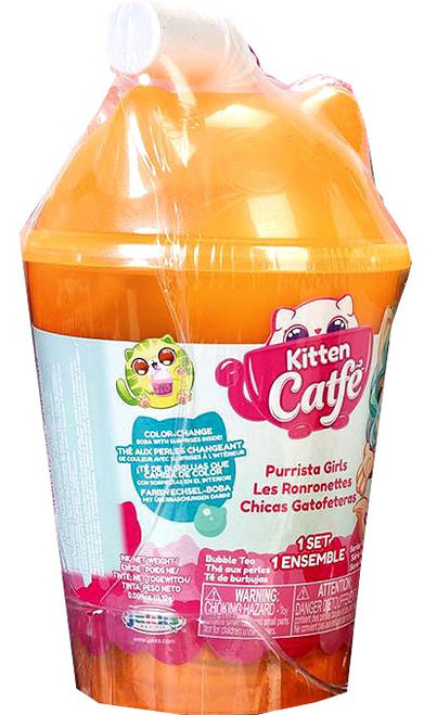 Kitten Catfe Series 4 (Boba Cup) Purrista GIrls Mystery Pack [RANDOM Color Pack]