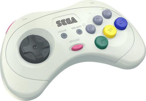 Sega Genesis Sega Saturn 8-Button USB Port Wireless Controller [White, 2.4Ghz] (Pre-Order ships July)