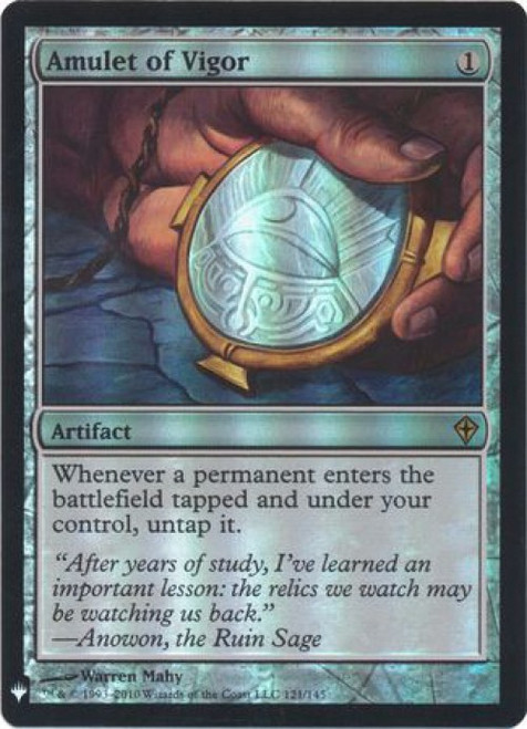MtG Mystery Booster / The List Rare Foil Amulet of Vigor #121