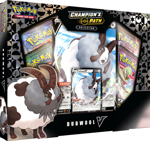 Pokemon Trading Card Game Champion's Path Dubwool V Collection [4 Booster Packs, Promo Card & Oversize Card!]