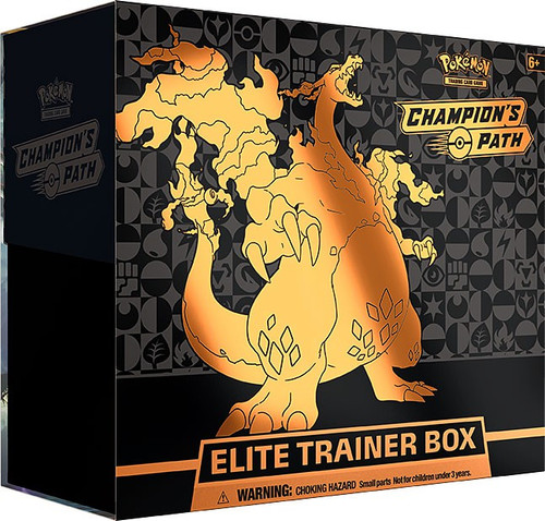 Pokemon Trading Card Game Champion's Path Gigantamax Charizard Elite Trainer Box [10 Booster Packs, Promo Card, 65 Sleeves, 45 Energy Cards & More]