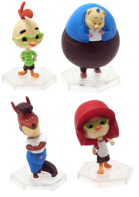 Disney Gacha 2 Inch Micro Chicken Little Set of 4 PVC Figures