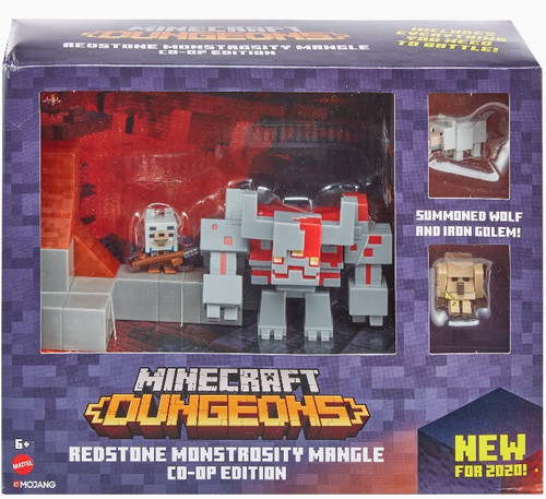 Minecraft Dungeons Redstone Monstrosity Mangle Action Figure 2-Pack [Co-Op Edition!]