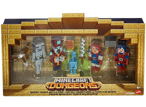 Minecraft Dungeons Desert Temple Battle Pack Action Figure 4-Pack