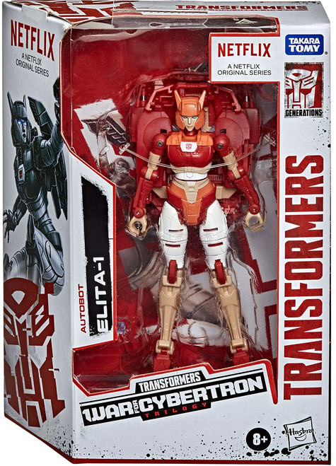Transformers Generations War for Cybertron Elita-1 Exclusive Deluxe Action Figure [Netflix Series-Inspired]