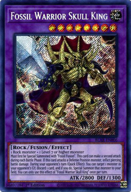 YuGiOh Battles of Legend Armageddon Secret Rare Fossil Warrior Skull King BLAR-EN006