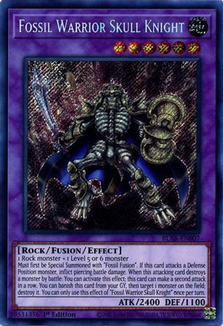 YuGiOh Battles of Legend Armageddon Secret Rare Fossil Warrior Skull Knight BLAR-EN007