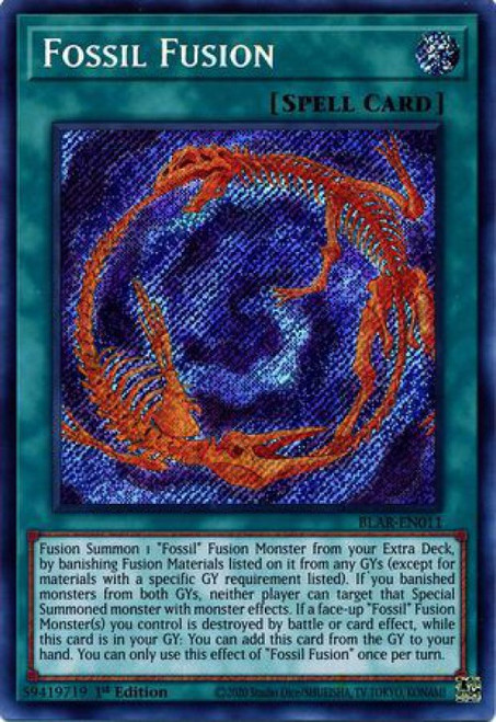 YuGiOh Battles of Legend Armageddon Secret Rare Fossil Fusion BLAR-EN011