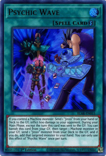 YuGiOh Battles of Legend Armageddon Ultra Rare Psychic Wave BLAR-EN015