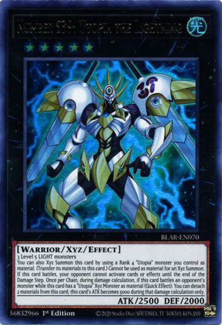 YuGiOh Battles of Legend Armageddon Ultra Rare Number S39: Utopia the Lightning BLAR-EN070