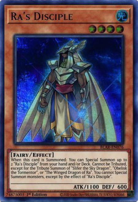 YuGiOh Battles of Legend Armageddon Ultra Rare Ra's Disciple BLAR-EN076