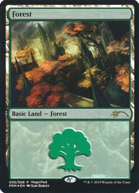 MtG Promo Cards Promo Forest [MagicFest 2019 Promo, Foil]