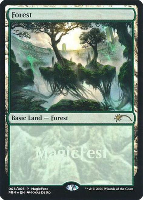 MtG Promo Cards Promo Forest [MagicFest 2020 Promo, Foil]