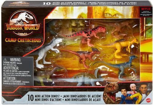 Jurassic World Camp Cretaceous Action Dinos! Mini Figure 10-Pack