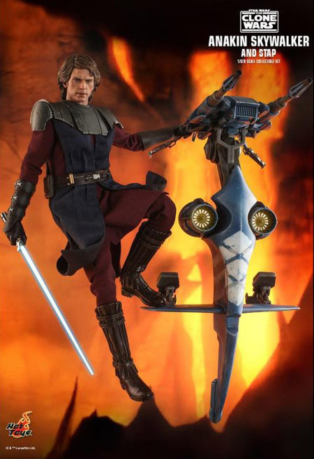 Star Wars The Clone Wars Anakin Skywalker and STAP TMS020 Collectible Figure (Pre-Order ships April)