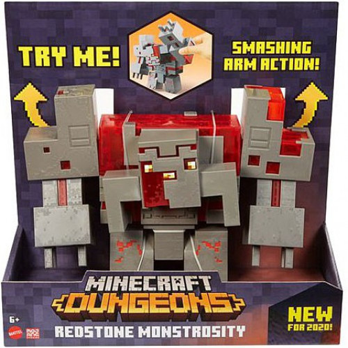 Minecraft Dungeons Redstone Monstrosity Deluxe Action Figure