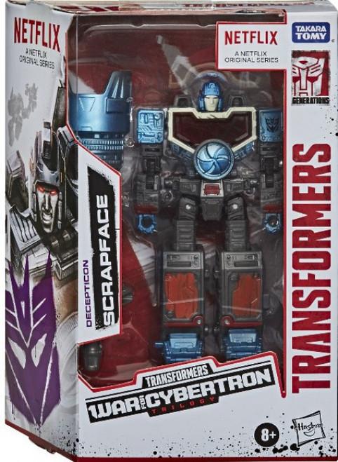 Transformers Generations War for Cybertron Scrapface Exclusive Deluxe Action Figure [Netflix Series-Inspired]