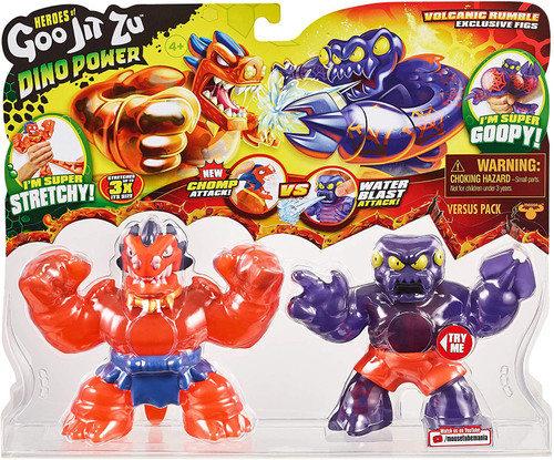 Heroes of Goo Jit Zu Dino Power Blazagon vs Redback Action Figure 2-Pack [Volcanic Rumble]