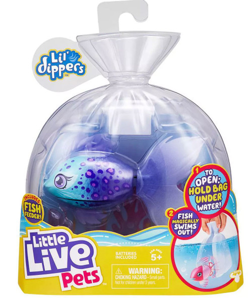Little Live Pets Lil' Dippers Furtail Swimming Fish
