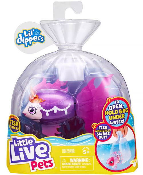 Little Live Pets Lil' Dippers Seaqueen Swimming Fish