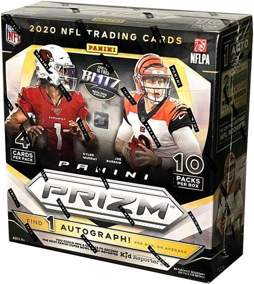 NFL Panini 2020 Prizm Football Trading Card MEGA Box [10 Packs, 1 Rookie Autograph]