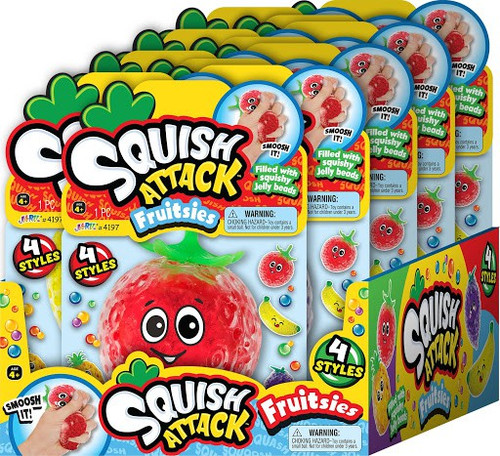 Squish Attack Fruitsies Assortment Case [3 of each style] (Pre-Order ships May)