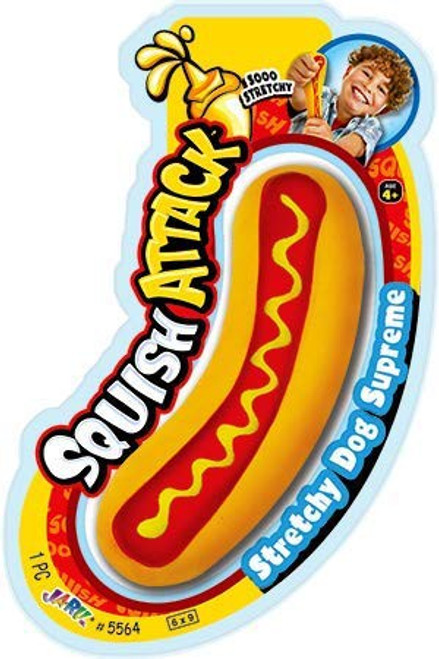 Squish Attack Hot Dog Squeeze Toy