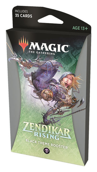 MtG Trading Card Game Zendikar Rising Black Theme Booster Pack [35 Cards]