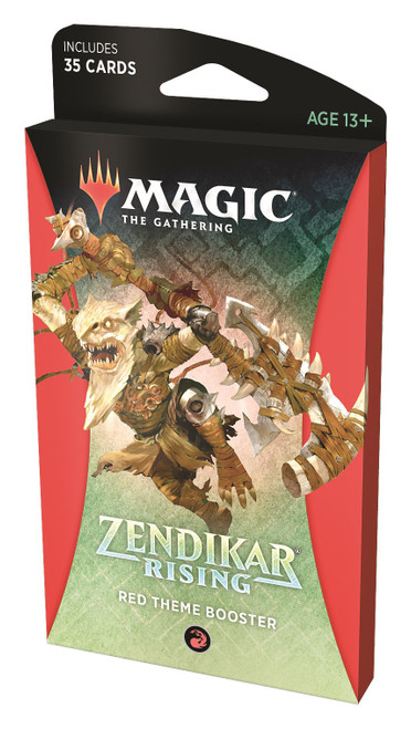MtG Trading Card Game Zendikar Rising Red Theme Booster Pack [35 Cards]