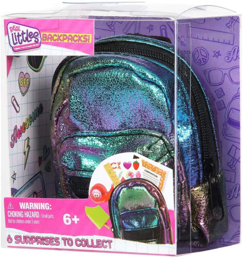 Shopkins Real Littles Backpacks! Series 1 Mystery Pack [1 RANDOM Mini Backpack & 6 Surprises!]