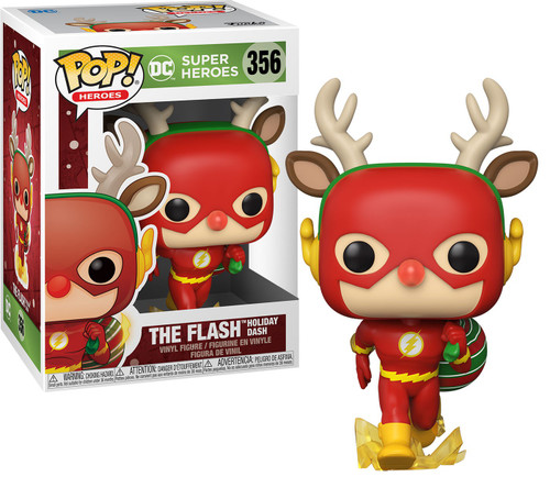 Funko DC Holiday POP! Heroes Rudolph Flash Vinyl Figure