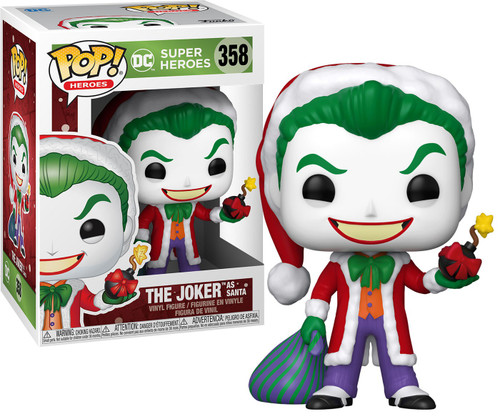 Funko DC Holiday POP! Heroes Santa Joker Vinyl Figure