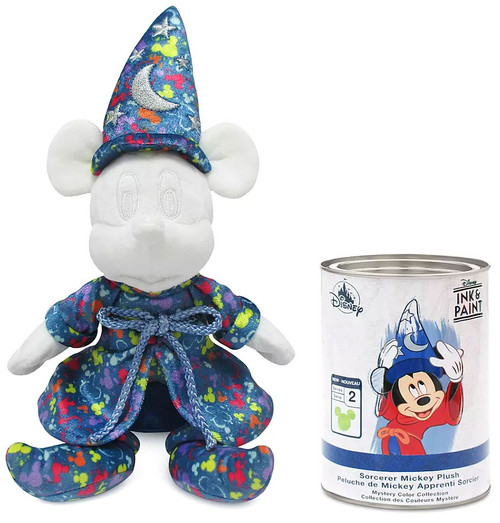 Disney Ink & Paint Series 2 Sorcerer Mickey Exclusive 12.5-Inch Plush Mystery Pack