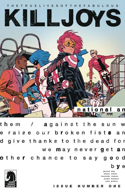 Dark Horse True Lives of the Fabulous Killjoys #1 National Anthem Comic Book [Cover A Romero]