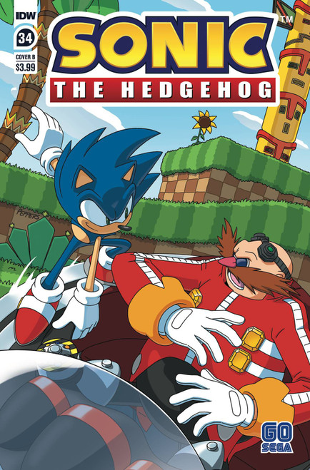 IDW Sonic The Hedgehog #34 Comic Book [Cover B]