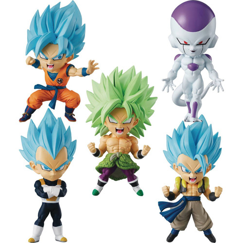Dragon Ball Chibi Masters Frieza, SSB Goku, SSB Vegeta, SSB Gogeta & Broly 3-Inch Mini PVC Blind Box [10 Figures] (Pre-Order ships January)