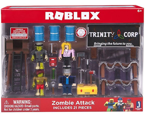 Roblox Zombie Attack 3-Inch Playset [RANDOM Box, Same Contents, Damaged Package]