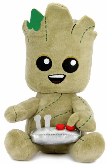 Marvel Guardians of the Galaxy Phunny Groot with Button Plush (Pre-Order ships January)